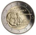 2 EURO - The Grand-Duke Henri and the Grand-Duke Guillaume IV.