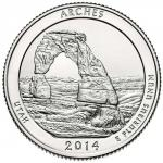 25 Cent USA 2014 -  Arches - Utah