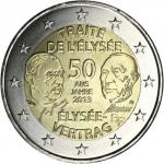 2 EURO - commemorative coins France 2013 - 50th anniversary of the signing of the Élysée Treaty