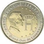 2 EURO - Effigy and monogram of Grand-Duke Henri 2004