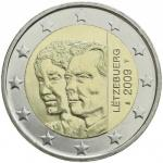 2 EURO - The Grand-Duke Henri and the Grand-Duchess Charlotte 2009