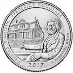 25 Cent USA 2017 -  Frederick Douglass - District of Columbia