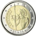 2 EURO - 4th centenary of the first edition of Miguel de Cervantes 2005