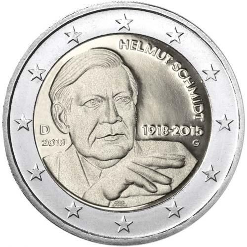 2 Euro Nemecko 2018 Helmut Schmidt G Nunofisk