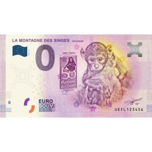0 Euro Souvenir Francúzsko 2019 - La Montagne Des Singes Click to view the picture detail.