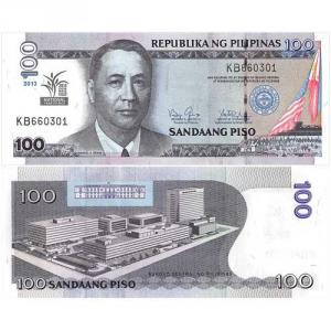 100 Piso 2013 Filipíny Click to view the picture detail.