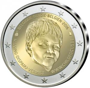 2 EURO Belgicko 2016 - Child Focus - Proof Click to view the picture detail.