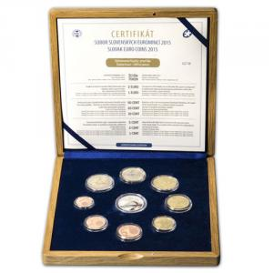 EUROCoin set Slovakia 2015 - Slovak eurocoins proof like Click to view the picture detail.