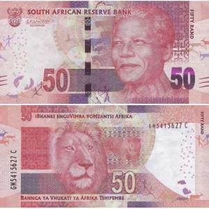 50 Rand 2013 Južná Afrika Click to view the picture detail.