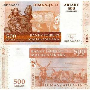 500 Ariary 2004 Madagaskar Click to view the picture detail.