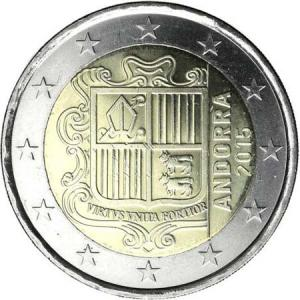 2 EURO - obehová minca Andorra 2018 Click to view the picture detail.