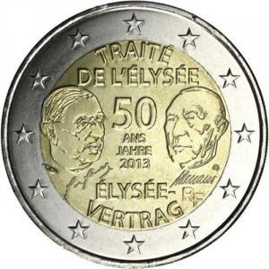 2 Euro Gedenkmünze Frankreich 2013 50 Jahrestag Der