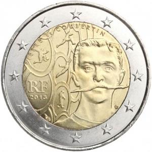 2 EURO - commemorative coins France 2013 - Pierre de Coubertin Click to view the picture detail.