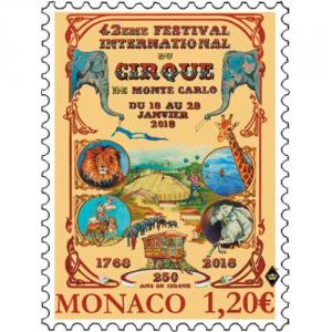Známka Monako 2018 - Circus Festival 2018 Click to view the picture detail.