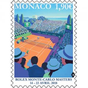 Známka Monako 2018 - Rolex Monte Carlo Masters Click to view the picture detail.