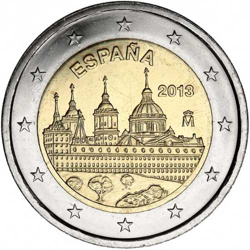 2 euro commemorative coin spain 2013 el escorial. Black Bedroom Furniture Sets. Home Design Ideas
