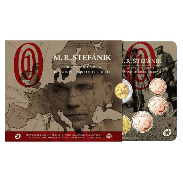 860ee4625e043 Sada obehových EURO mincí SR 2019 - Milan Rastislav Štefánik Kliknutím  zobrazíte detail obrázku.