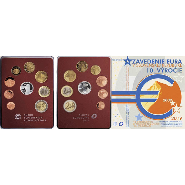f8e2482e1da40 Sada obehových EURO mincí SR 2019 - Zavedenie eura - Proof Kliknutím  zobrazíte detail obrázku.