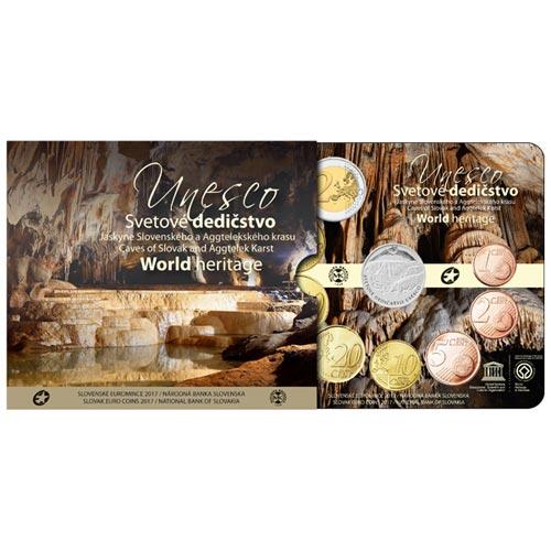 d308c89f92773 Sada obehových EURO mincí SR 2017 - Jaskyne Slovenského krasu Kliknutím  zobrazíte detail obrázku.